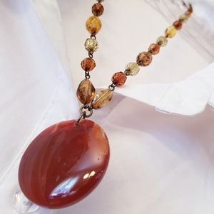 Jewelry - ☕ 3/$15 ☕ Brown Beaded Necklace